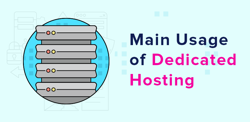 What is the Main Usage in a Dedicated Hosting?